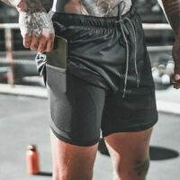 Men's Gym Bodybuilding Running Sport Shorts Fitness Casual Pants With Pockets