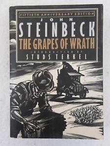John Steinbeck GRAPES OF WRATH 50th Anniversary Ed Studs Terkel Viking 1989