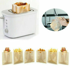 Toaster Bags Reusable Bread 12 Pack Non-Stick Snack Sandwich GRILLED CHEESE BAG