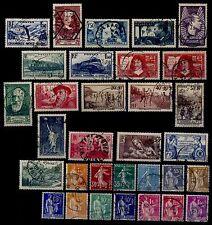 L'ANNÉE 1937, Oblitérés (sauf Louvre et Pexip) = Cote 67 € / Lot Timbres France