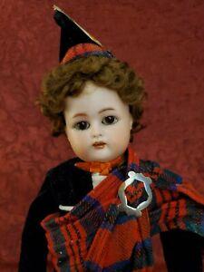 """Antique German Bisque Head Kammer Reinhardt Simon & Halbig Boy Doll 13"""""""