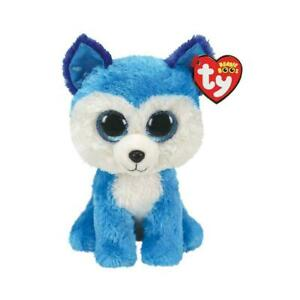 """TY Beanie Boos Collection Prince Huskey Puppy Dog 6"""" Collectable Plush Soft Toy"""