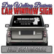 DOG WALKING Car Rear Window Business Advertising Vinyl Sticker Lettering Decal