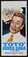 Plakat Toto 'Suche Zuhause Steno Mario Monicelli Marisa Merlini Makawana L31