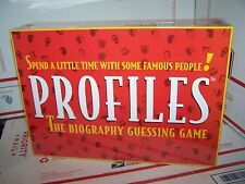 Profiles the Biography Guessing Game By the Big Game Inc- NEW