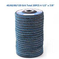 4-1/2x7/8 40 60 80120 Grit Flap Sanding Disc Grinding Angle Grinder Sander Wheel