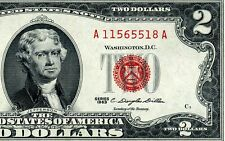 1963 $2 US Note *** Red Seal *** # A11565518A