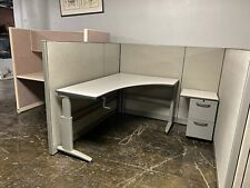 6 X 6 X 56h Cubicle Workstation By Knoll Morrison In Gray Withadj Surface