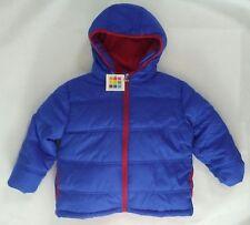 Healthtex Boys Bubble Hooded Winter Jacket Coat Blue sz 12 m NWT puffer