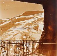Montagne Neige Foto Stereo PL58L30n2 Placca Lente Vintage