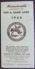 """1969 """"Commonwealth of Massachusetts Abstracts of The Fish & Game Laws"""" Booklet"""