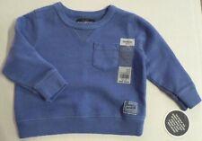 Oshkosh Baby Boys Pullover Sweatshirt Solid Blue Cotton...