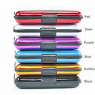 Waterproof Business ID Credit Card Wallet Holder Aluminum Metal Pocket Case BoxE