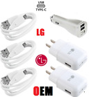 New Original LG Fast Charging Wall Charger Type C Cable For LG G5 G7 Stylo 4 V20