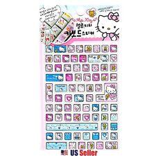 Sanrio Hello Kitty Computer Keyboard Stickers (Eng & Korean) : Pink Angel Kitty