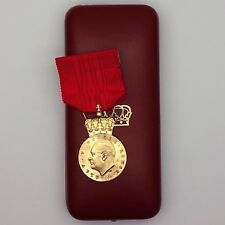Norway Order King Olav V's Commemorative Medal Gold class with case rare