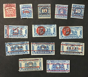 US Revenue Playing Card Stamps - Used Some Faults (W14)