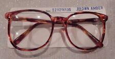 Vintage Mainstreet Jenny Brown Amber 52/21 P3 Round Eyeglass Frame New/Old Stock