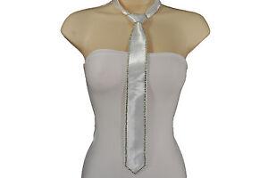 Men / Women Fashion Neck Tie Tuxedo Costume Suit White Silver Black Blue Red