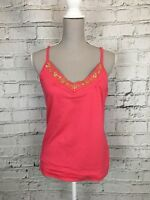 SECRET POSSESSIONS - Pink Sleeveless Embroidered V-Neck Top - Womens -Size 12/14