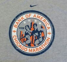 Nike Chicago Marathon Bank of America t shirt L new running cubs bulls bears