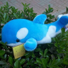 cute blue plush tiger shark toy high quality whale doll gift about 35cm
