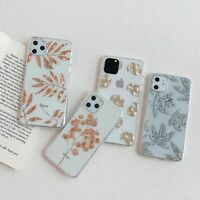 Art Rose Gold Plating Leaf Pineapple Tree Case for iPhone 12 11 Pro XR X XS 8 7