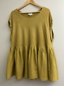 Seed Heritage Top Size 14 - 16 women's linen viscose blend top size XL