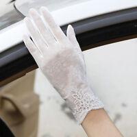 EG_ Women Girl Silk Flower UV Protection Non-Slip Driving Screentouch Gloves Dre