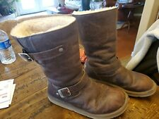 UGG Australia Kensington Women's Brown Leather Shearling Boot Size US 9 5678