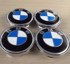 4x Blue White Alloy Wheel Rim Center Hub Caps Emblem Badge 60mm / 55mm for BMW