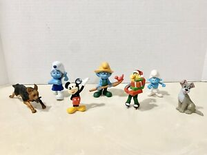 PVC Figurine Lot: Disney, Smurfs, Lady And The Tramp, Muppets ++ Read For Info.