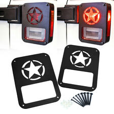Xprite Rear Tail Light Cover Guard Lamps Trim STAR for 07-18 Jeep Wrangler Pair