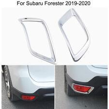 Chrome Rear Fog Light Lamp Frame Cover Trim Strip For Subaru Forester 2019-2020