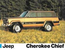 JEEP CHEROKEE CHIEF CAR 'BROCHURE'/SHEET LATE 70's/EARLY 80's? UK MARKET
