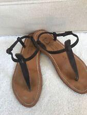 K Jacques Dark Grey Suede Sandals
