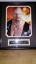 WWF STONE COLD STEVE AUSTIN AUTOGRAPHED PICTURE IN FRAME COA