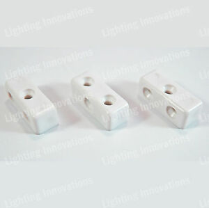 WHITE MODESTY MOD BLOCKS KITCHEN CABINET CUPBOARD FIXING JOINT CONNECTOR BLOCKS