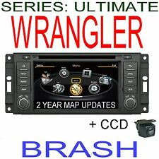 JEEP WRANGLER JK 2007-15 GPS DVD NAVI BLUETOOTH STEERING &CCD CAMERA HEAD UNIT