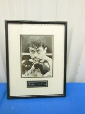 Robert DeNiro Signed Autographed Raging Bull Photograph with Plaque 14x18