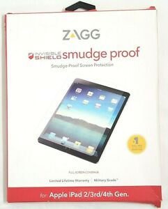 ZAGG Invisible Shield Smudge-Proof Screen Protector Apple iPad 2/3rd/4th Gen.