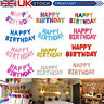 "Large 16"" HAPPY BIRTHDAY Foil Balloon Party Bunting Banner Self Inflating Letter"