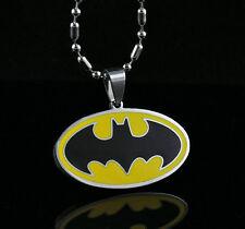 DC Batman Steel Chain Pendant Fashion Necklace Child Boy Man Lady Xmas LZ10