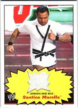 WWE Santino Marella 2012 Topps Heritage Authentic Event Worn Shirt Relic Card