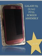 OEM GENUIN Samsung galaxy s3 L710/C-SPIRE PURPLE Full Screen/lcd Repair Assembly