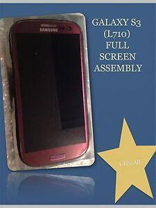 OEM GENUIN Samsung galaxy s3 L710/C-SPIRE PURPLE Full Screen/lcd Repair Assembly