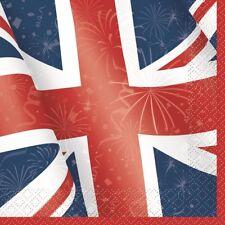 Great Britain Napkins Union Jack Flag 16 Best of British Unique GB Luncheon 33cm