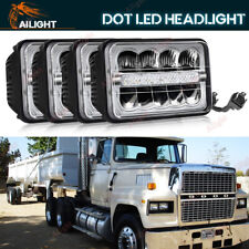 """Day Running 4x6"""" LED Sealed Headlight For 82-97 Ford LTL 9000 GMC Volvo Chevy"""