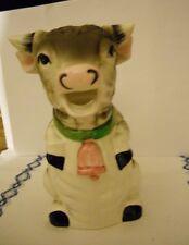 Vintage Ceramic Cow Figurine Milk Juice Pitcher Creamer 1950s Bossy Guernsey