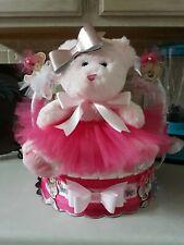 Teddy Bear Ballerina  Diaper Cake Gift Basket - Made to order